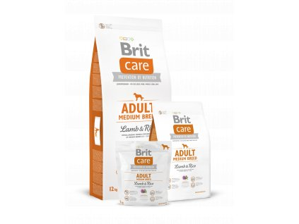 krmivo granule Brit Care Lamb & Rice Adult Medium Breed