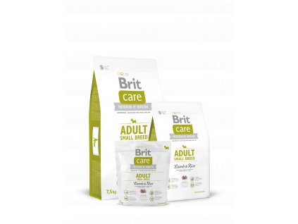 Brit Care Adult Small Lamb & Rice  HYPOALERGENNÍ