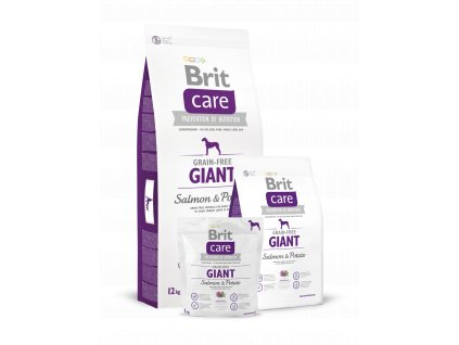 Krmivo granule Brit Care Salmon & Potato Adult Giant breed