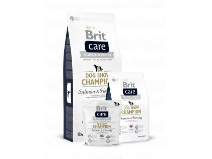 krmivo granule Brit Care Dog Show Champion Losos a herink
