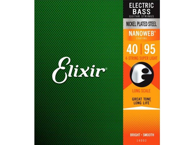 ELIXIR NANOWEB Nickel plated 040-095 4 str.