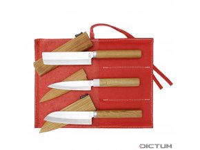 Dictum719195 - Small Knife with Sheath, 3-Piece Set