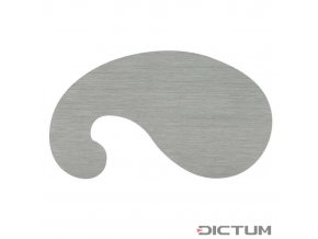 Dictum 703535 - French Scraper Blade, Gooseneck, Thickness 0.80 mm