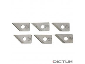Dictum 716169 - Replacement Blade Set for Hole Cutter with Knob Handle, 10-Piece Set