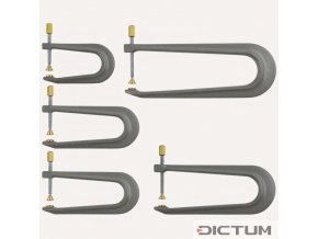 Dictum 705894 - Aluminium Repair Clamps, 5-Piece Set