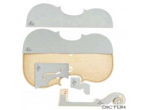Dictum 739405 - Herdim® Outline Templates, 5-Piece Set, Violin, Strad Hellier 1679
