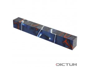 Dictum 831386 - Acrylic Pen Blank, Blue/Red/White