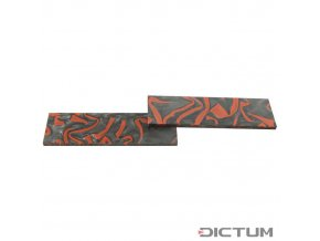 Dictum 831387 - Acrylic Handle Scales, Grey/Red