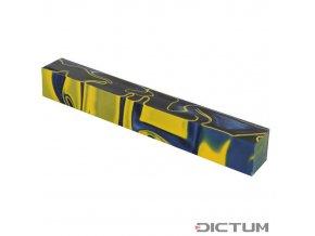 Dictum 831457 - Acrylic Pen Blank, Ocean Blue/Yellow