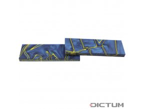 Dictum 831461 - Acrylic Handle Scales, Ocean Blue/Yellow