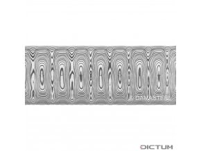 Dictum 831805 - Damasteel® DS93X™ Odins Eye™ Damascus Steel, 32 x 2.5 x 210 mm