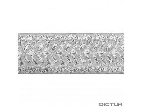 Dictum 831811 - Damasteel® DS93X™ Hakkapella™ Damascus Steel, 51 x 3.2 x 250 mm