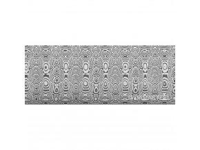 Dictum 831815 - Damasteel® DS93X™ Ladder Damascus Steel, 51 x 3.2 x 250 mm
