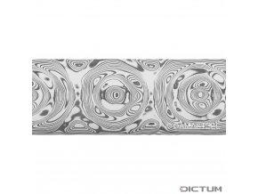 Dictum 831829 - Damasteel® DS93X™ Grosserosen Damascus Steel, 32 x 3.5 x 210 mm