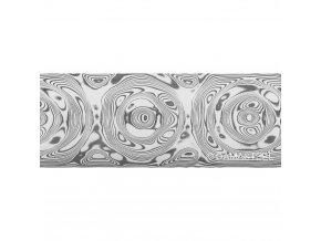 Dictum 831831 - Damasteel® DS93X™ Grosserosen Damascus Steel, 51 x 3.2 x 250 mm