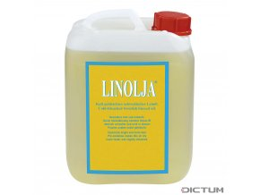 Dictum 705269 - Linolja® Organic Swedish Linseed Oil, Cold-Bleached, 5 l