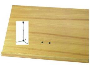 WITTNER orchestrální pult s dřevěnou deskou nikl