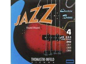 THOMASTIK JAZZ BASS 4 str. kulaté opředení JR344