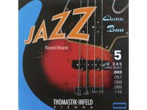 THOMASTIK JAZZ BASS 5 str. kulaté opředení JR345
