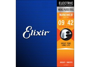 ELIXIR NANOWEB Nickel plated 009-042