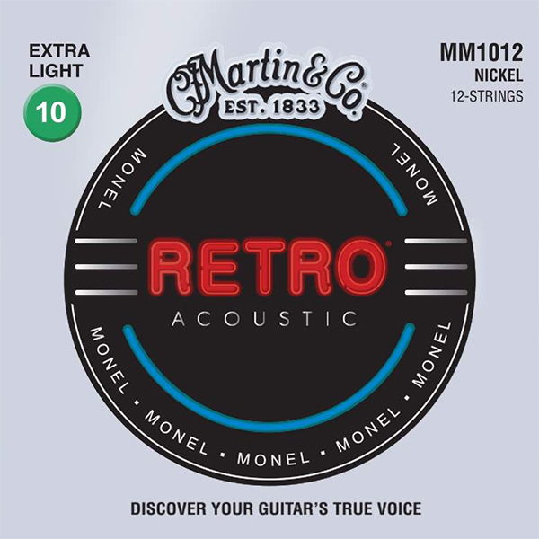Martin RETRO MM1012 - Struny na dvanáctistrunnou kytaru - sada