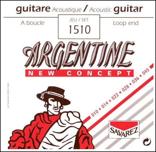 SAVAREZ ARGENTINE gypsy 010 smyčka 1510 Struny na akustickou kytaru - sada