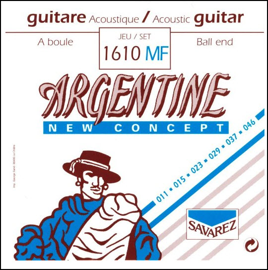 SAVAREZ ARGENTINE gypsy 011 kulička 1610MF Struny na akustickou kytaru - sada