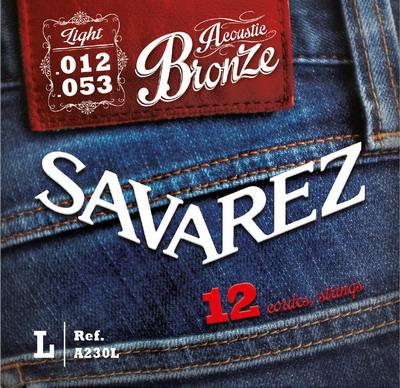 Savarez ACOUSTIC A230L (Bronze) - Struny pro dvanáctistrunnou kytaru - sada