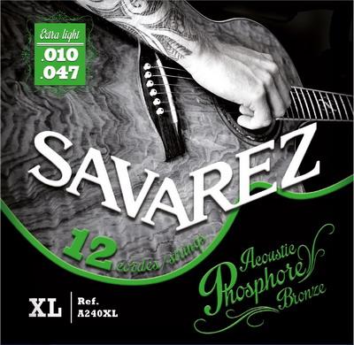 SAVAREZ ACOUSTIC PHOSPHOR-BRONZE 12-ti str. 010 A240XL Struny na akustickou kytaru - sada