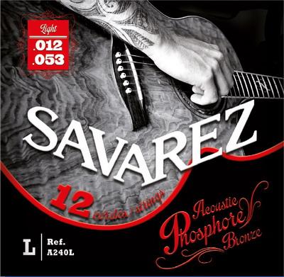 Savarez ACOUSTIC A240L (Phosphor Bronze) - Struny pro dvanáctistrunnou kytaru - sada