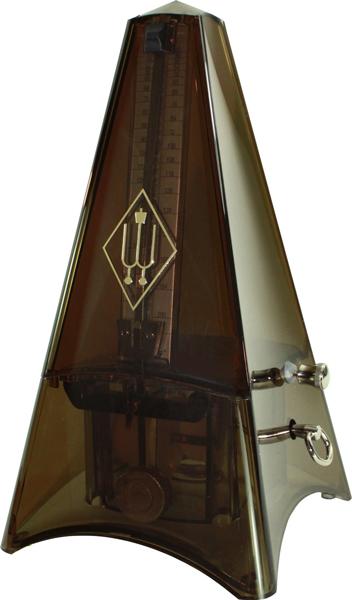 WITTNER TOWER plast kouřový Mechanický metronom se zvonkem
