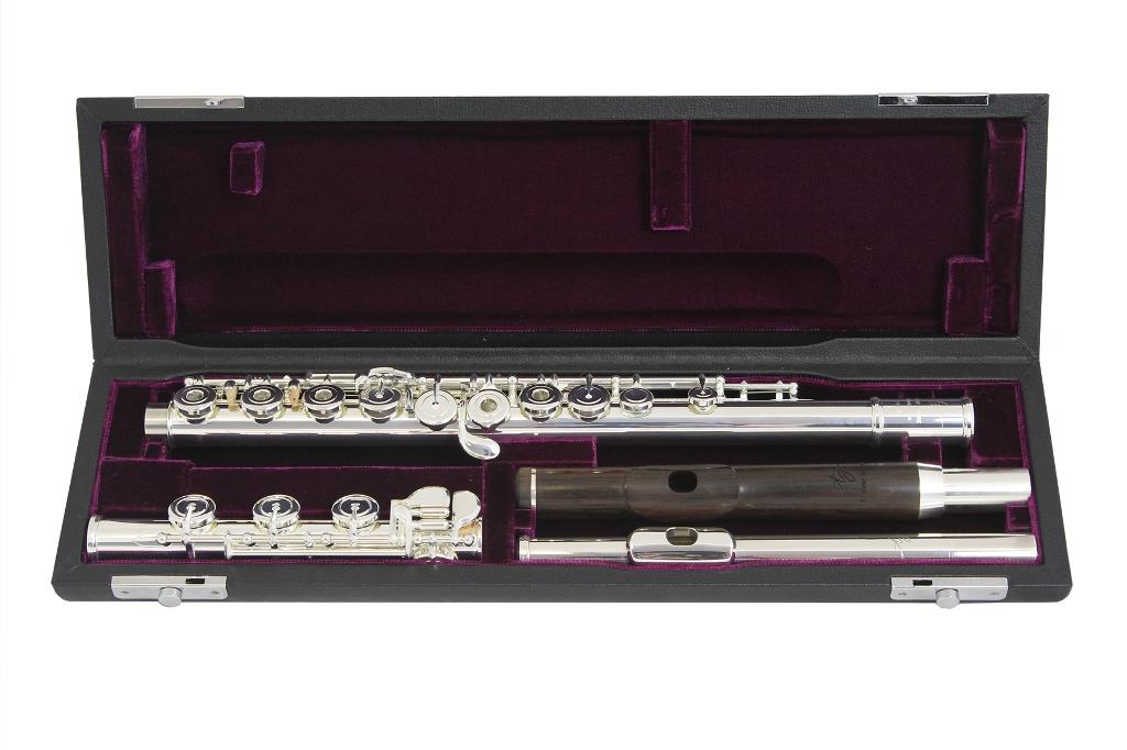 TREVOR JAMES VIRTUOSO flétna s dvěma hlavicemi (eben a stříbro)