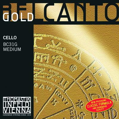 Thomastik BELCANTO GOLD BC31G - Struny na violoncello - sada