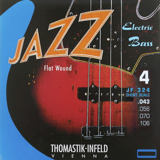 "Thomastik JAZZ FLAT WOUND JF324 (32"") - Struny na baskytaru - sada"