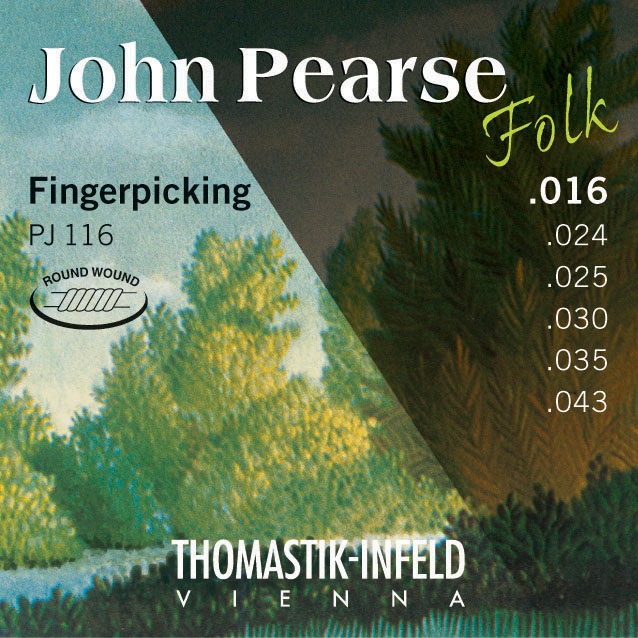 Thomastik JOHN PEARSE FOLK PJ116 - Nylonové struny na akustickou kytaru - sada