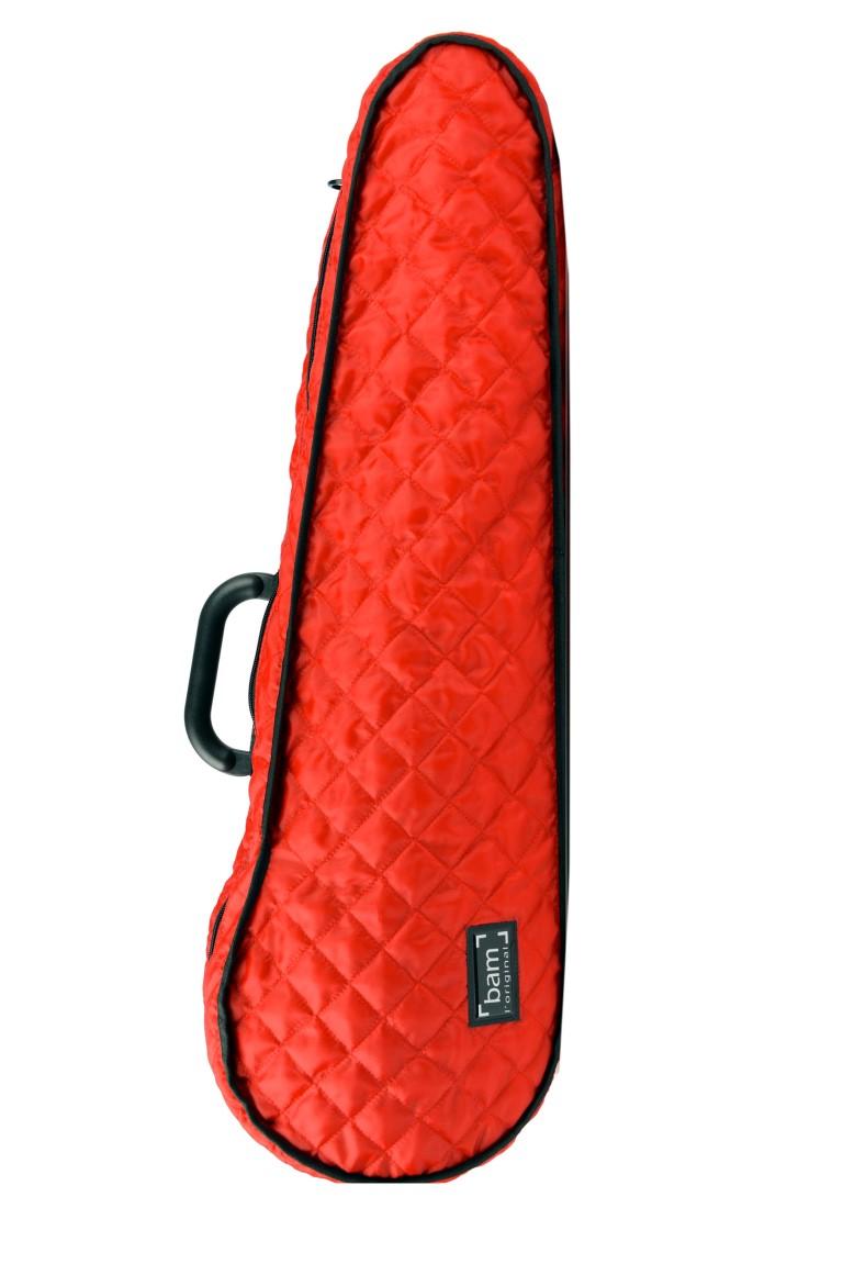 BAM Hoodie červená tvarovaná na houslové pouzdro