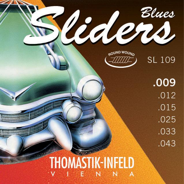 Thomastik SLIDERS BLUES SL109 - Struny na elektrickou kytaru - sada