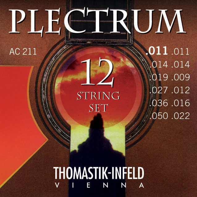 THOMASTIK PLECTRUM 12ti strunná 011 AC211 Struny na akustickou kytaru - sada