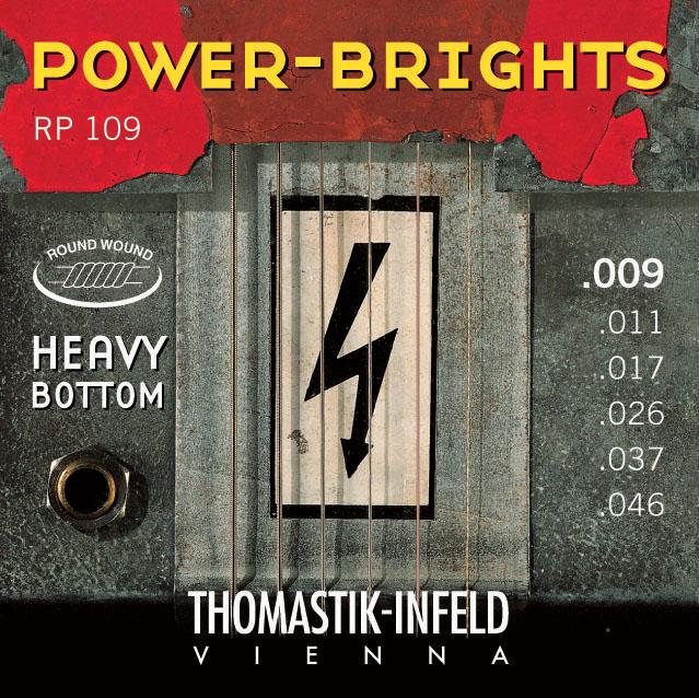 Thomastik POWERBRIGHTS RP109 (hybrid) - Struny na elektrickou kytaru - sada