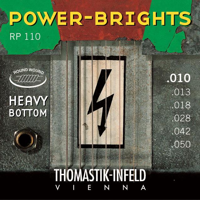 Thomastik POWERBRIGHTS RP110 (hybrid) - Struny na elektrickou kytaru - sada