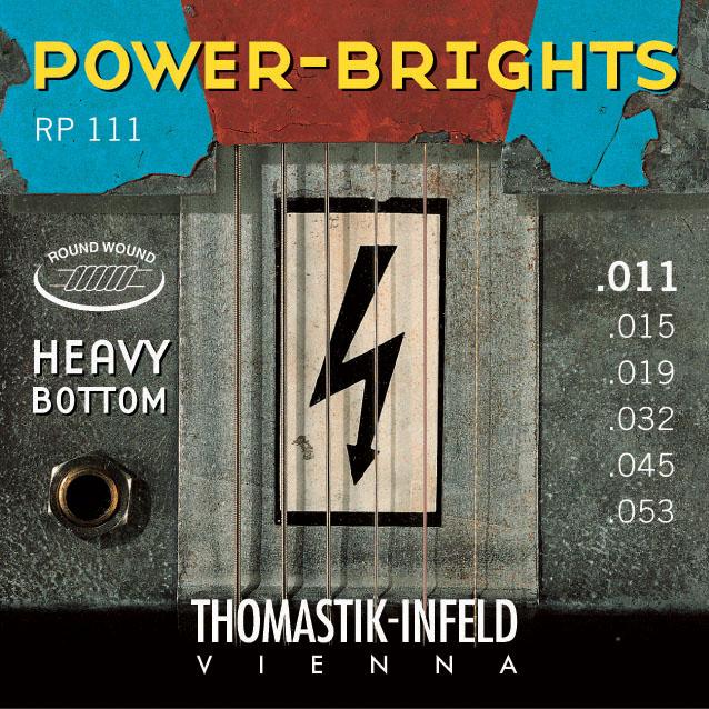 Thomastik POWERBRIGHTS RP111 (hybrid) - Struny na elektrickou kytaru - sada