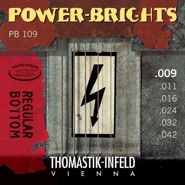 Thomastik POWERBRIGHTS PB109 - Struny na elektrickou kytaru - sada