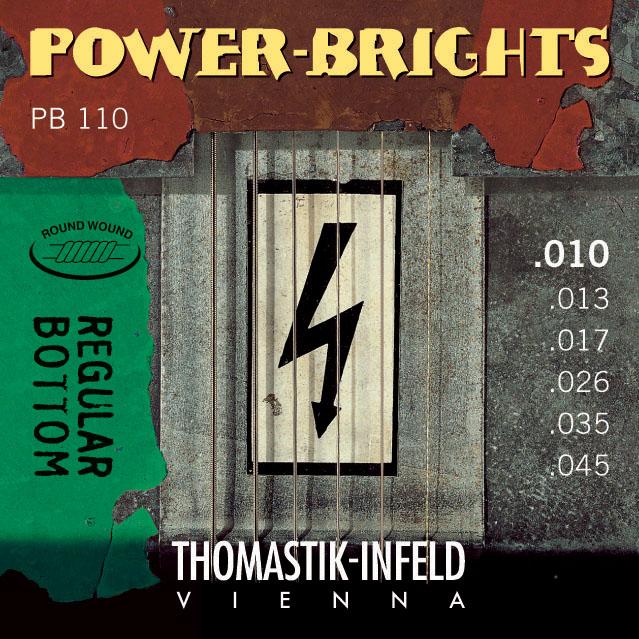 Thomastik POWERBRIGHTS PB110 - Struny na elektrickou kytaru - sada