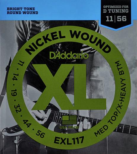 D'Addario EXL117 - Struny na elektrickou kytaru - sada