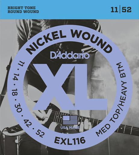 D'Addario EXL116 - Struny na elektrickou kytaru - sada