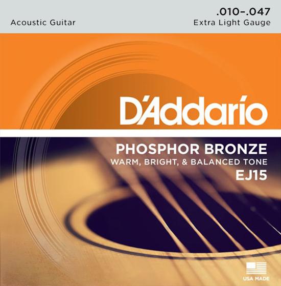 D'Addario EJ15 - Struny na akustickou kytaru - sada