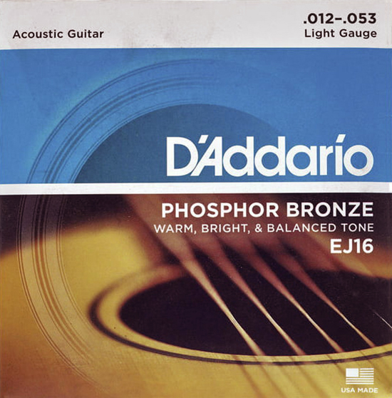 D'Addario EJ16 - Struny na akustickou kytaru - sada