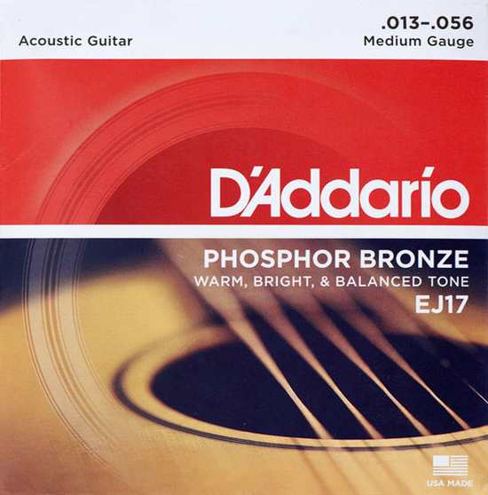 D'Addario EJ17 - Struny na akustickou kytaru - sada