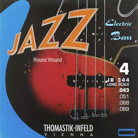 THOMASTIK JAZZ BASS 4 str. kulaté opředení JR344 Baskytarové struny - sada