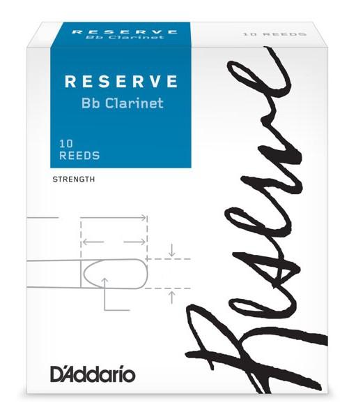 D'Addario RESERVE DCR1025 - Plátky na Bb klarinet (2,5)